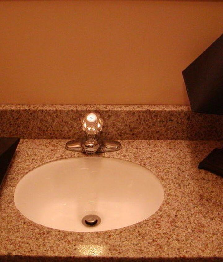 Granite countertop, new sink; step one.