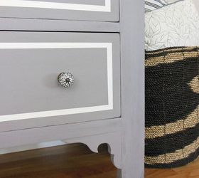 A Plum Grey Dresser With Modern Lines, Painted Furniture, Fun New Black And  White