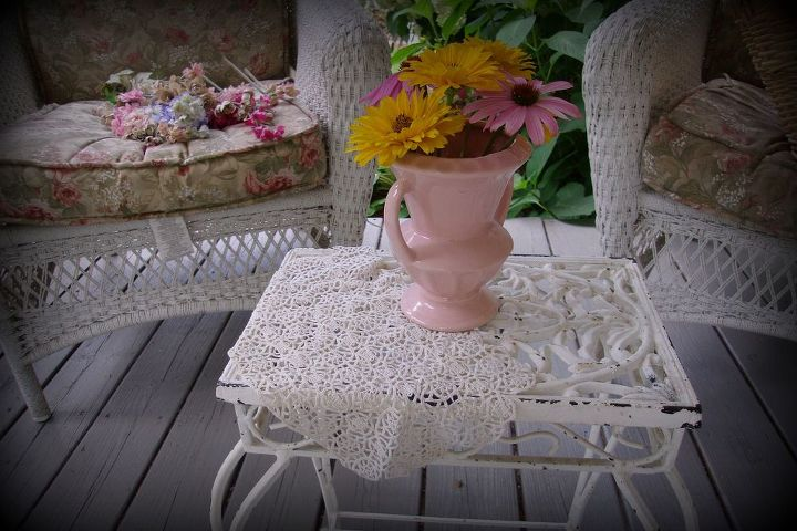 A little iron table on my porch