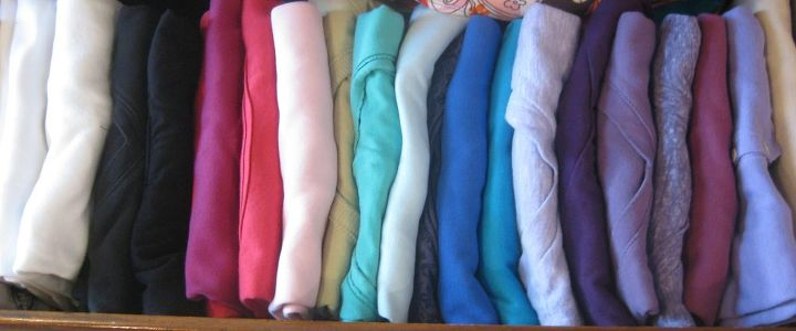 how to fold and organize your t shirts, organizing, Rather than stacking the tees file them like file folders