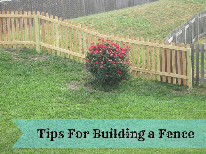 tips for building a fence, diy, fences, how to, woodworking projects, Get tips and see full tutorial with picturs on my blog