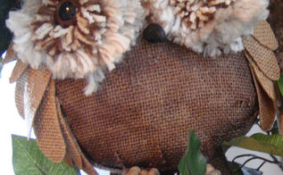 how to make burlap owls, crafts
