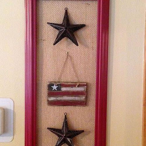 Diy Patriotic Frame Decor Hometalk