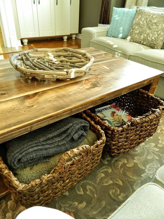 living room table with storage. diy rustic coffee table with storage in about 3 or 4 days  painted DIY Rustic Coffee Table Storage About Days Hometalk