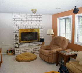 Would You Paint Your Brick Fireplace A Bold Orange We Did, Fireplaces  Mantels, Home