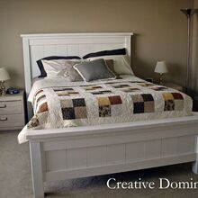 diy farmhouse bed, bedroom ideas, diy, painted furniture, woodworking projects, DIY Farmhouse Bed