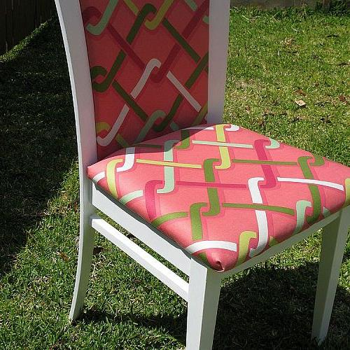 dining chair makeover, painted furniture, The after shot