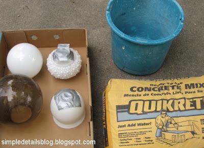 how to make concrete globes