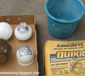 Diy Concrete Garden Spheres, Concrete Masonry, Gardening, Supplies Lighting  Globes Purchased From The
