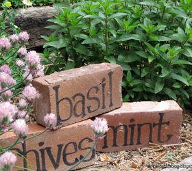 DIY Brick Herb Markers Hometalk