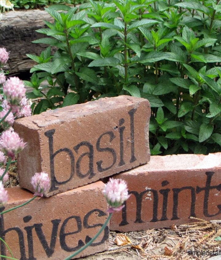 Brick Herb Markers