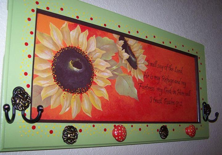 Sunflower Jewelry Holder by GranArt