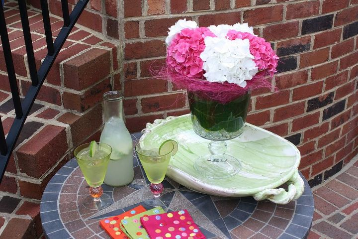 Fresh flowers and icy cold drinks
