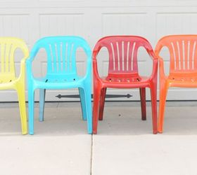 Bring New Life To Your Old Plastic Chairs With Krylon Spray Paint, Painted  Furniture