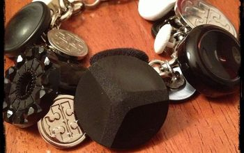 diy button bracelet, crafts