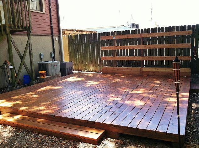 backyard deck in new orleans hometalk. Black Bedroom Furniture Sets. Home Design Ideas