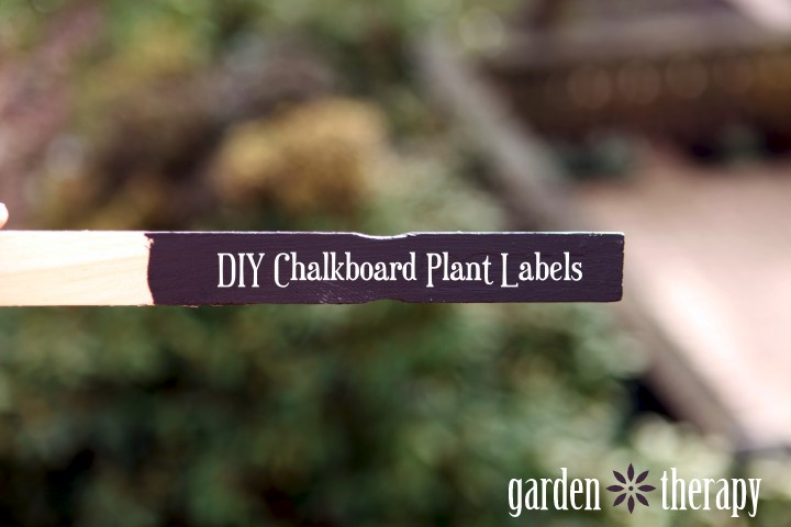 chalkboard paint plant markers, chalkboard paint, crafts, gardening, Learn how to make your own plant labels with chalkboard paint