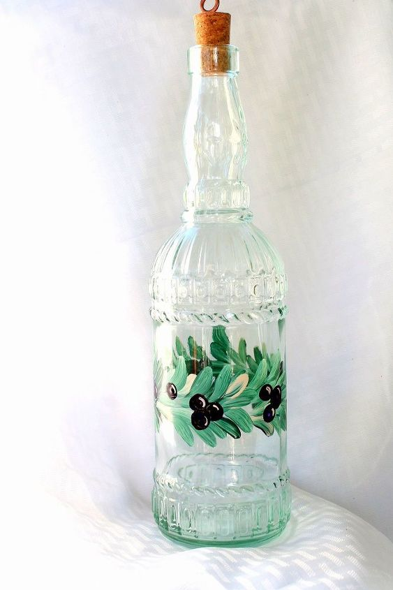 Vine and grapes Oil Bottle by Brushes with A View