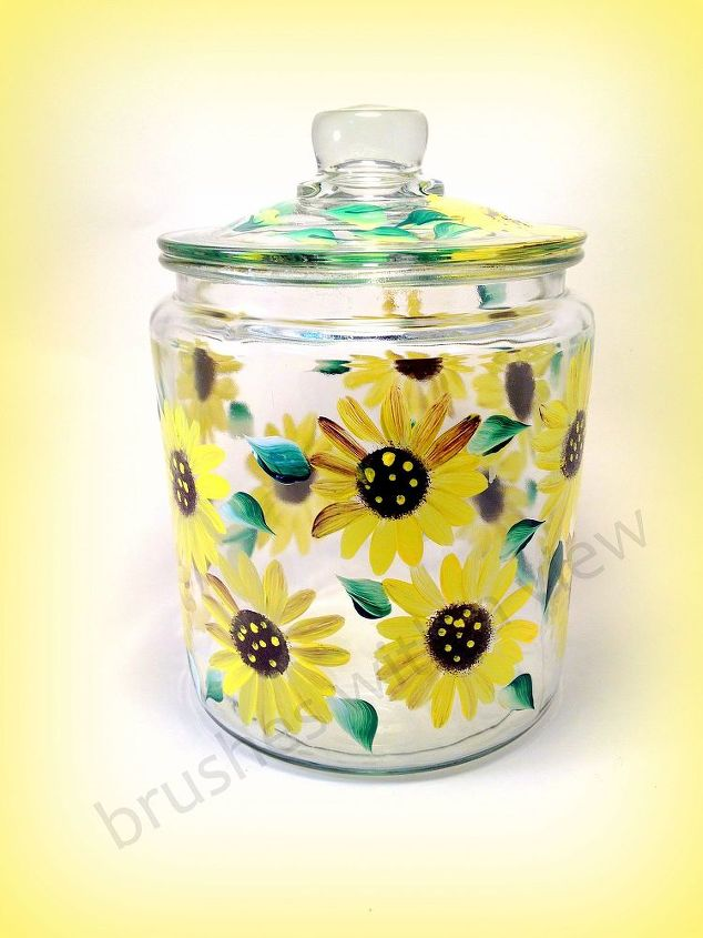 Sunflower General Jar by Brushes with A View