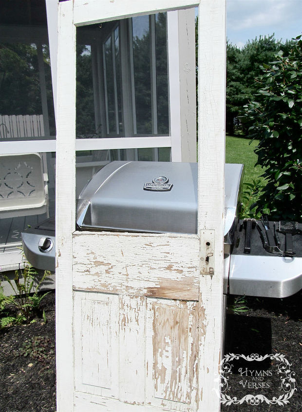 how to turn an old screen door into a family message center, cleaning tips, diy, doors, how to, repurposing upcycling