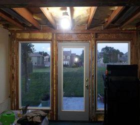Basement Walk Out Door And Window. Leak Is Above Door And Window