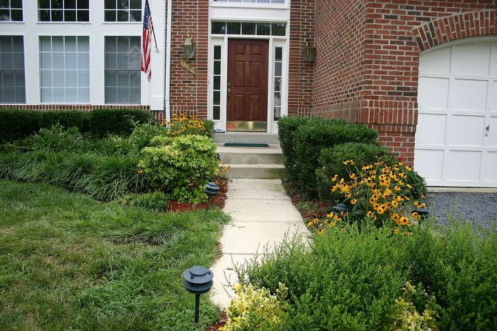 The front entrance was the typical contractor grade approach. Access pinched and unfriendly to visitors