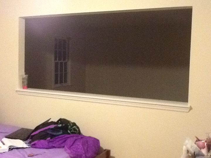 q how to close up a window in my room, diy, home maintenance repairs, how to, windows, Practically covers the whole wall
