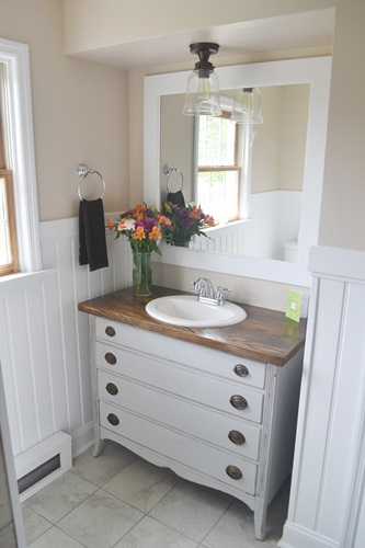 bathroom makeover, bathroom ideas, diy, home decor, small bathroom ideas, After