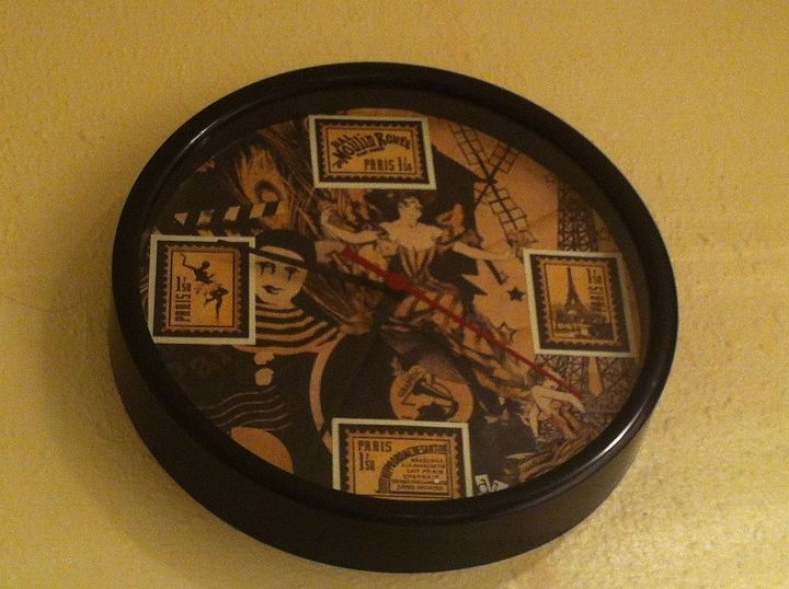 A fantastic gift I received from a friend–a scrapped clock!