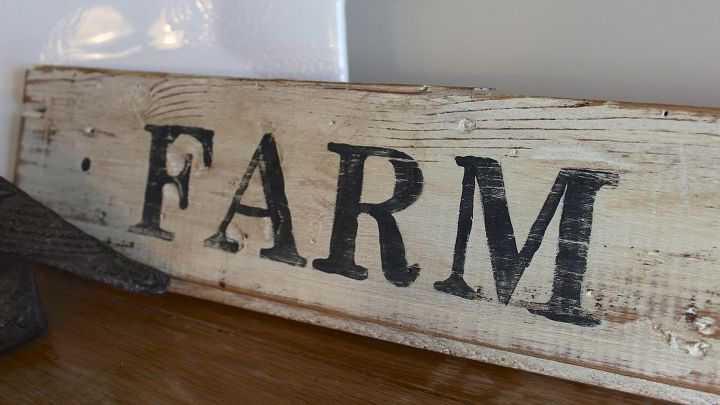 how to make a vintage sign, crafts, repurposing upcycling, It started with an old piece of tongue and groove pine