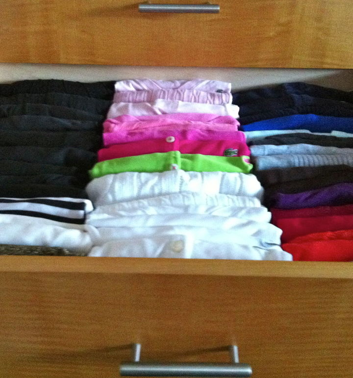 how to organize and find clothes quickly in a drawer, organizing, via