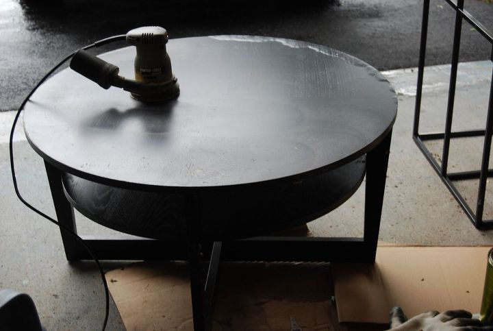 roadside rescue table and brown paper, painted furniture, repurposing upcycling