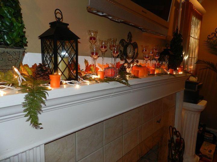 fall decorating inside home, seasonal holiday decor