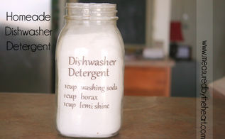 make your own dish washer detergent, cleaning tips, go green, I love making my own dishwasher detergent