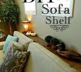 Diy Sofa Shelf Easiest Solution For A Common Problem, Diy, Living Room  Ideas,