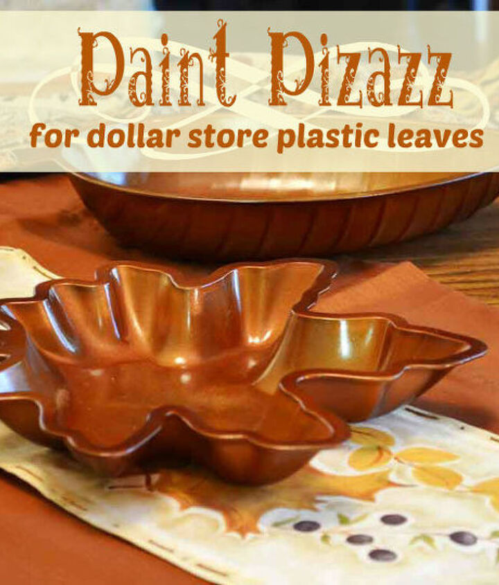 paint pizazz for dollar store plastic leaves, crafts, painting