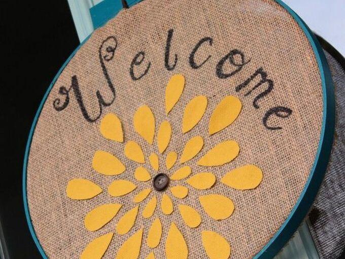 chrysanthemum embroidery hoop, crafts, wreaths