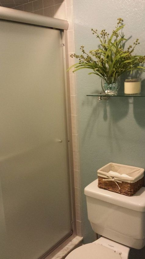 New Shower door... notice the clean paint lines? :)