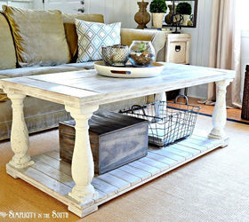 Beautiful Restoration Hardware Knock Off Salvaged Wood Balustrade Coffee Table, Diy,  How To, Painted