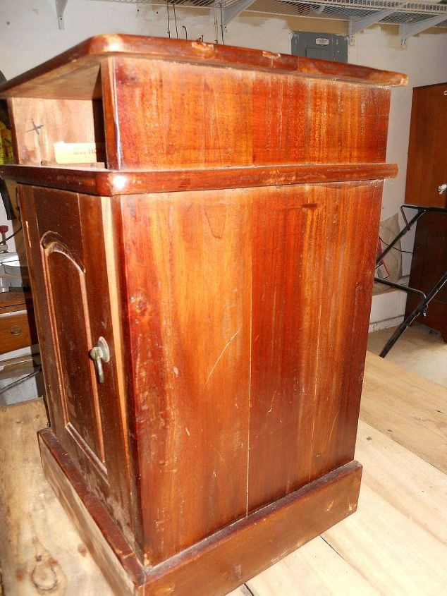 taking an antique piece and making it more antiqu ie, painted furniture, woodworking projects, Before