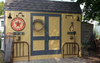 new shed makeover, cleaning tips, diy, outdoor living, repurposing upcycling, woodworking projects, junk find embellishments