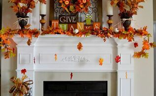 our 2013 fall mantel, seasonal holiday d cor, wreaths, Happy Fall
