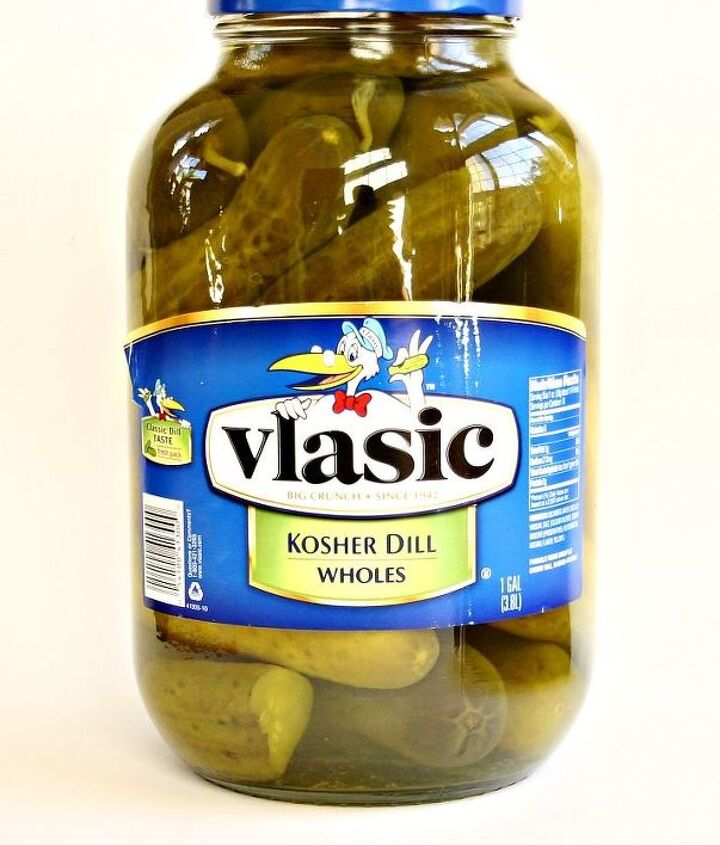 ...started out as this!  (A one gallon pickle jar.)