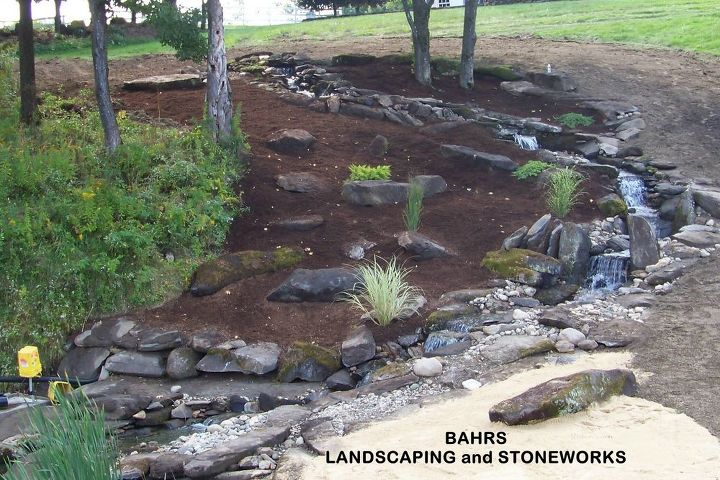 waterfall project, landscape, ponds water features