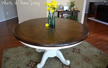 my first wood staining project our craigslist find breakfast table, painted furniture, woodworking projects