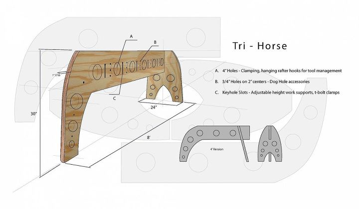 my 3 legged sawhorse design is featured in fine homebuilding magazine, craft rooms, tools, woodworking projects
