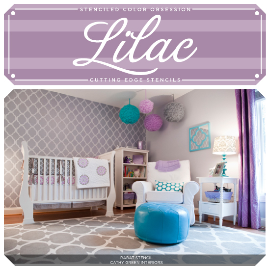 stenciled color obsession lilac, diy, paint colors, painting, wall decor