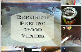 how to repair peeling wood veneer, diy, how to, painted furniture, woodworking projects
