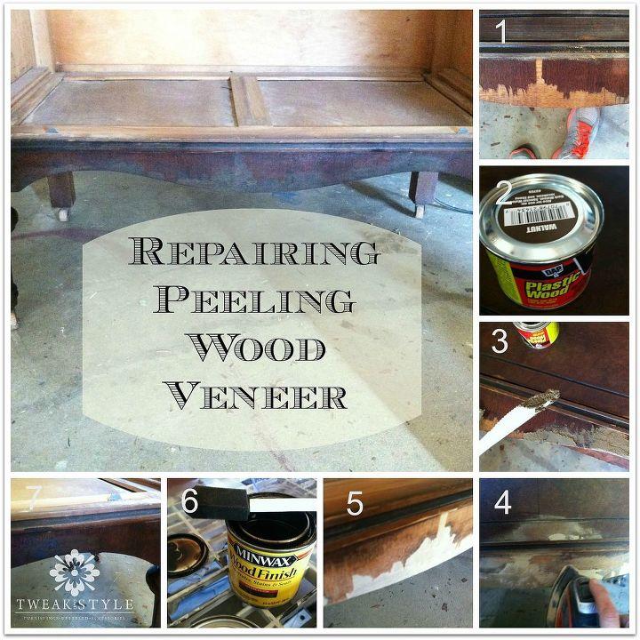 how to repair peeling wood veneer, diy, how to, painted furniture,  woodworking - How To Repair Peeling Wood Veneer Hometalk