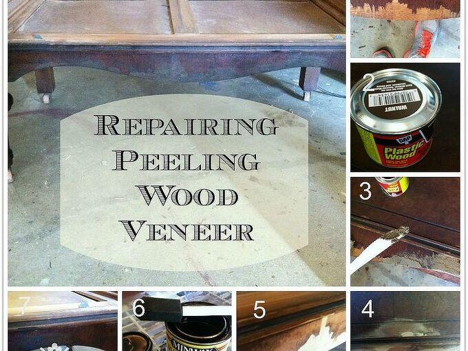 how to repair peeling wood veneer, diy, how to, painted furniture, woodworking projects